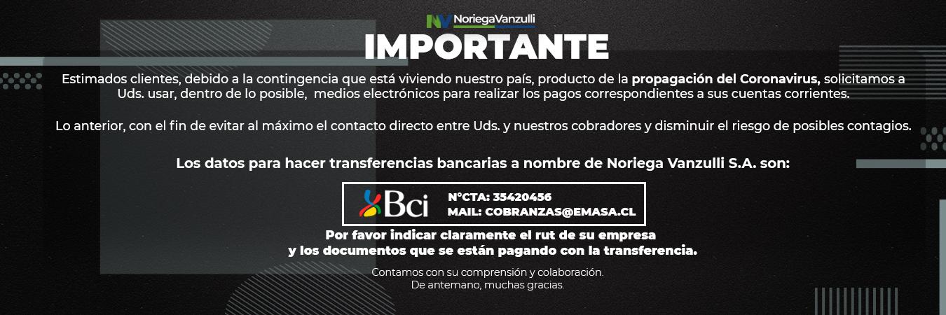 Información de Pagos en Cuarentena Nacional